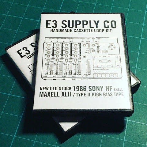 5 Second Loop Cassette Limited Poly Album Edition - Type II High Bias Handmade Blanks Loops  by E3 Supply Co.