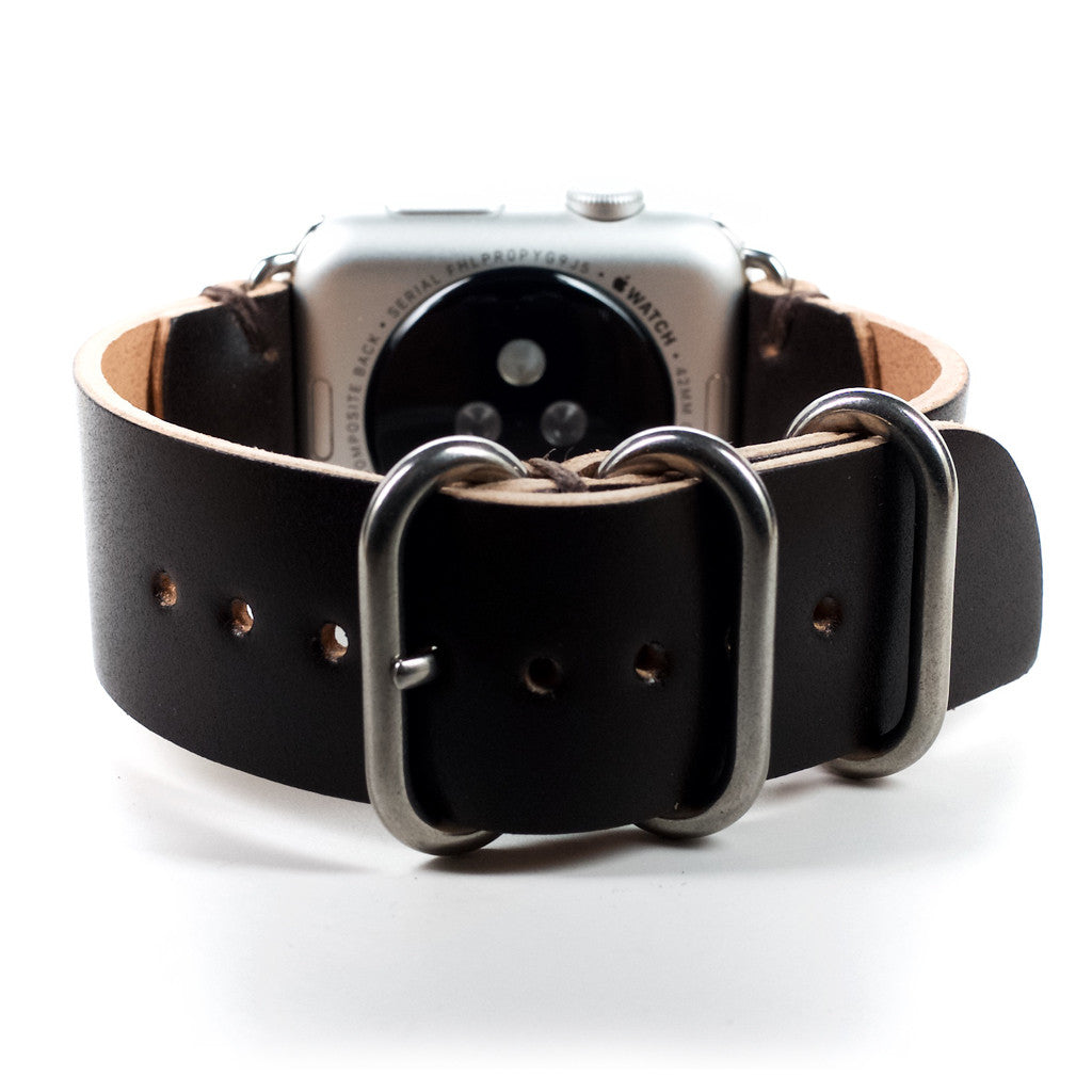 Handmade Brown Shell Cordovan Leather Strap for Apple Watch- 38mm & 42mm