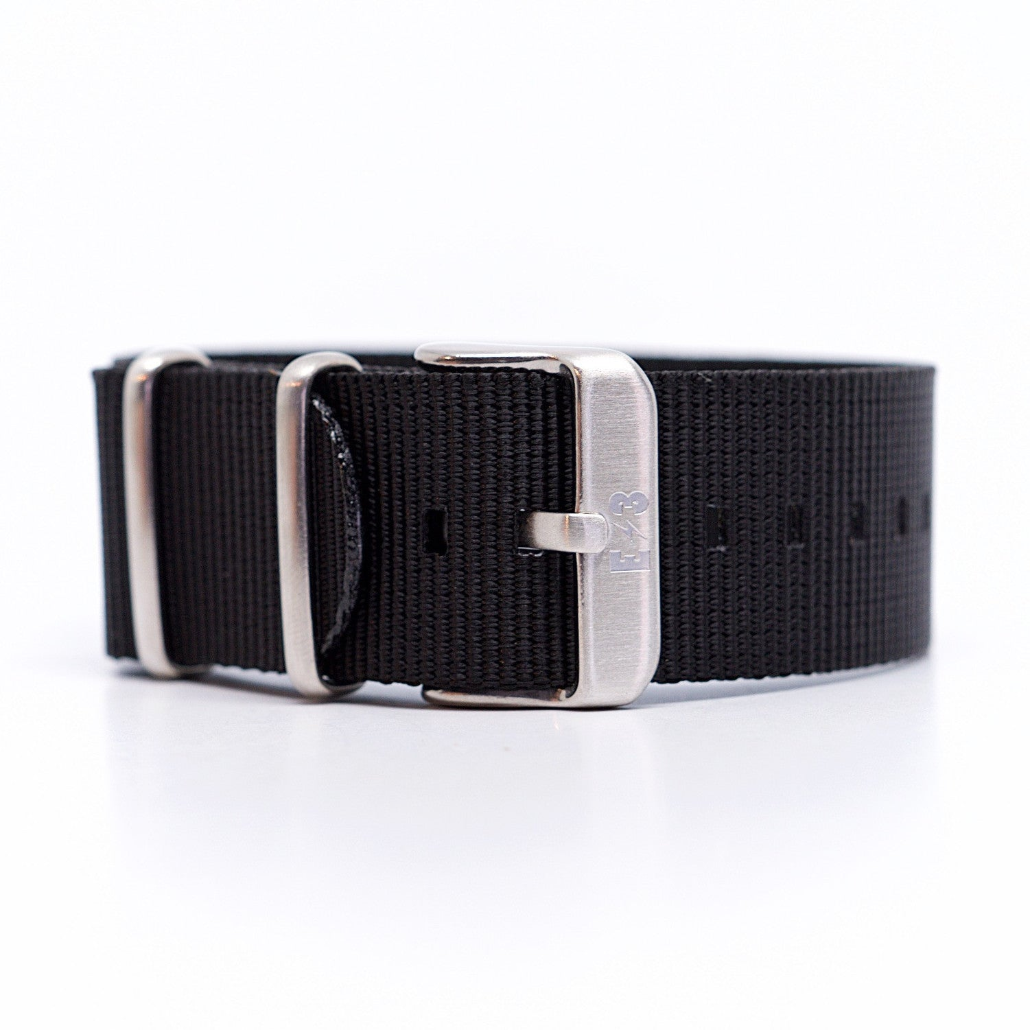 E3 Black Ballistic Nylon 22mm Military Watch Strap: Zulu / Nato / Military
