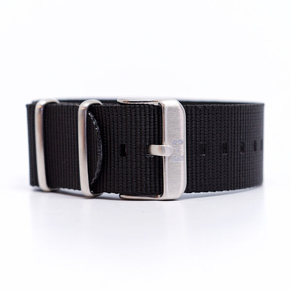 E3 Ballistic Nylon 22mm Military Watch Strap: Black