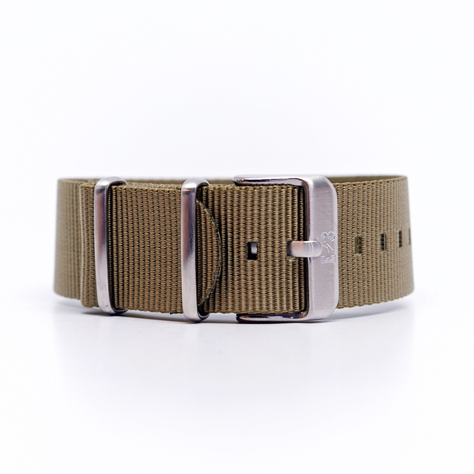 E3 Ballistic Natural Nylon 22mm Military Watch Strap: Zulu / Nato / Military