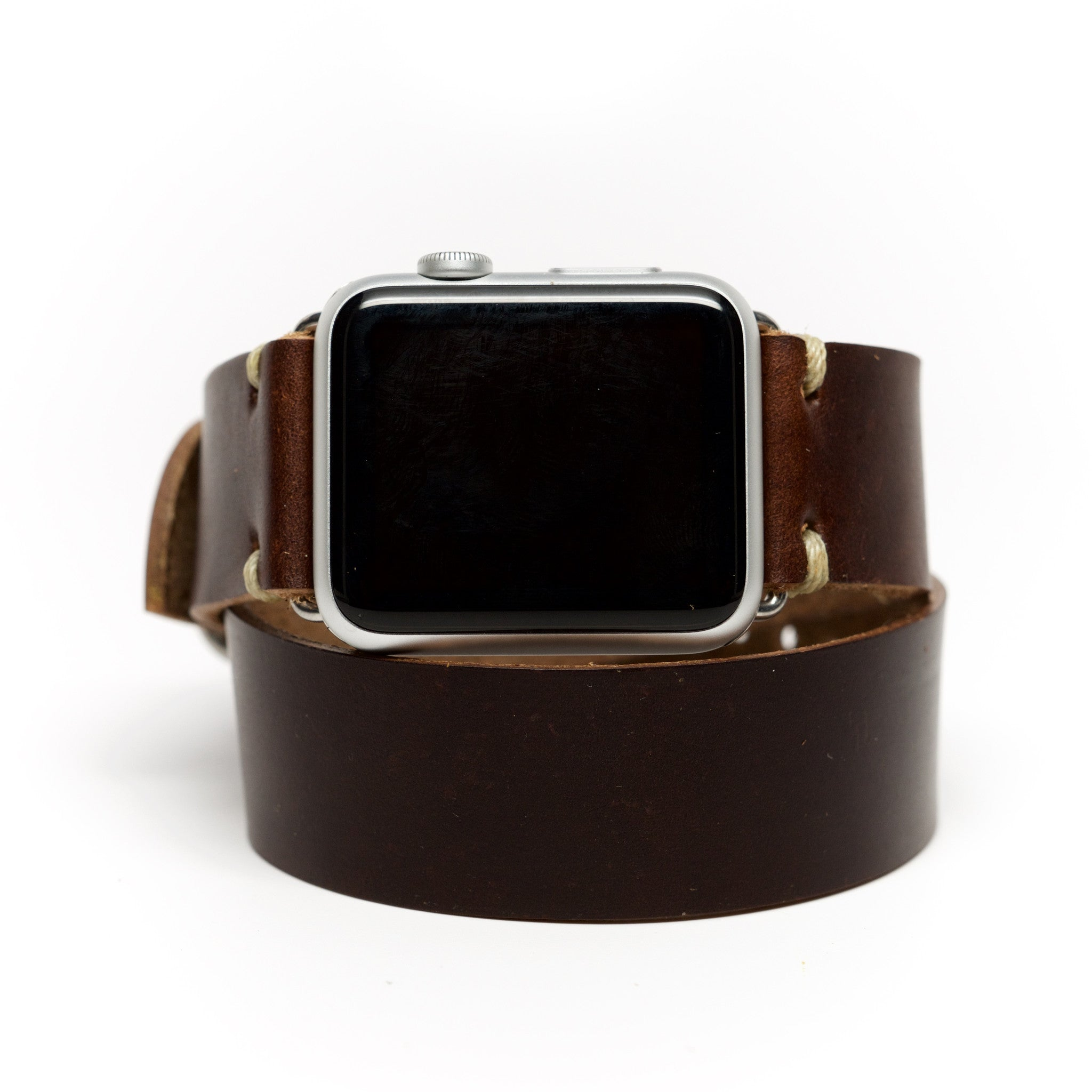 Double Wrap Apple Watch Band by E3 Supply Co. - Brown Chromexcel