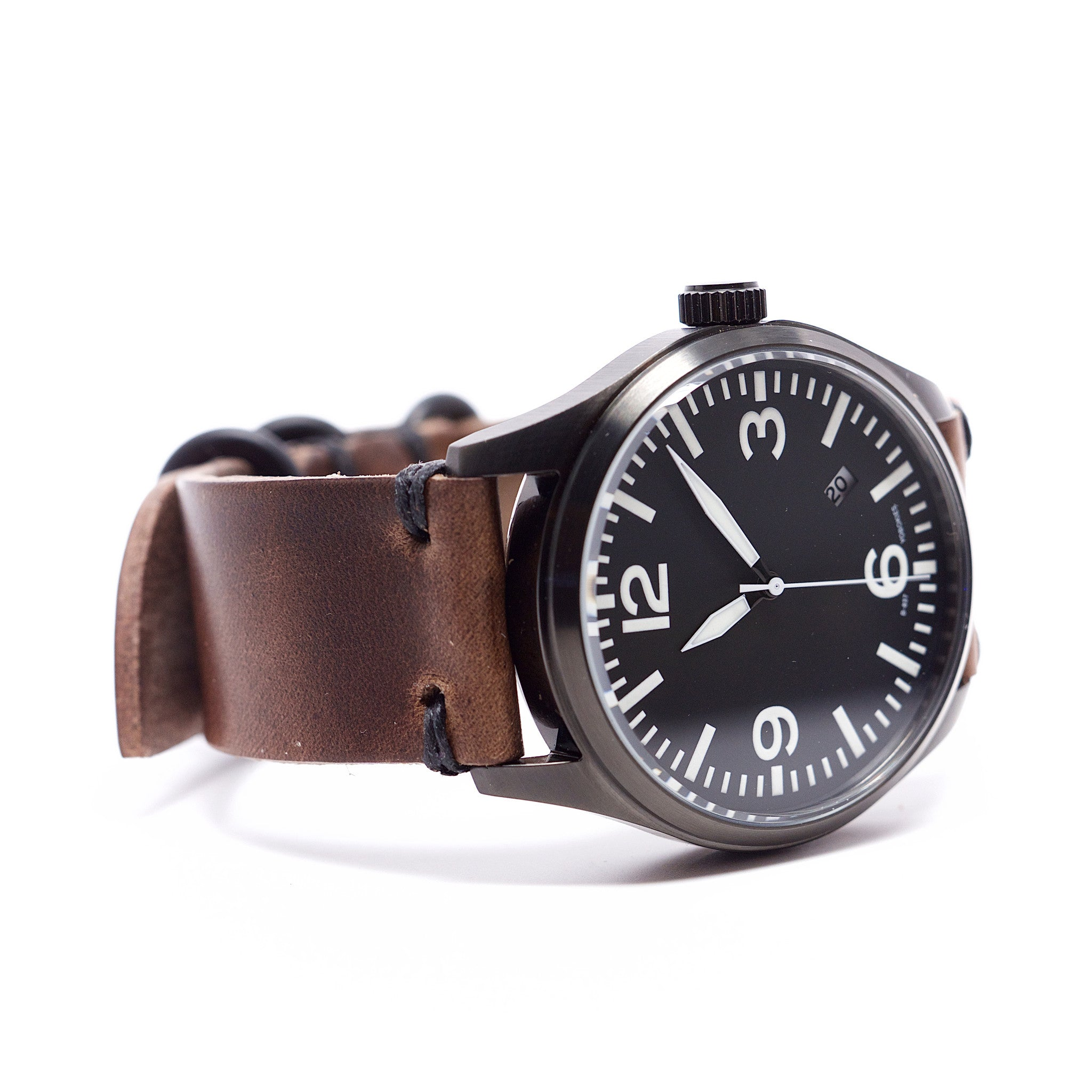 42mm Automatic Aviator Retro Modded Watch by E3 Supply Co