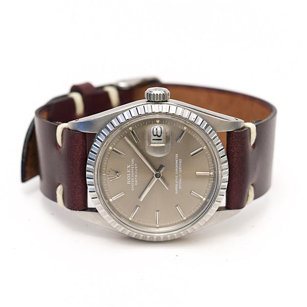 Shell Cordovan Leather Watch Strap: Clayton Color #8