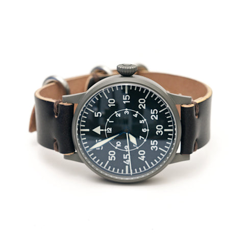 Shell Cordovan Leather Watch Strap: Clayton Dark Brown
