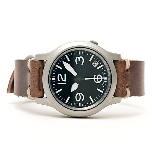 E3 Seiko Retro Mod 38mm Automatic Watch: Aviator