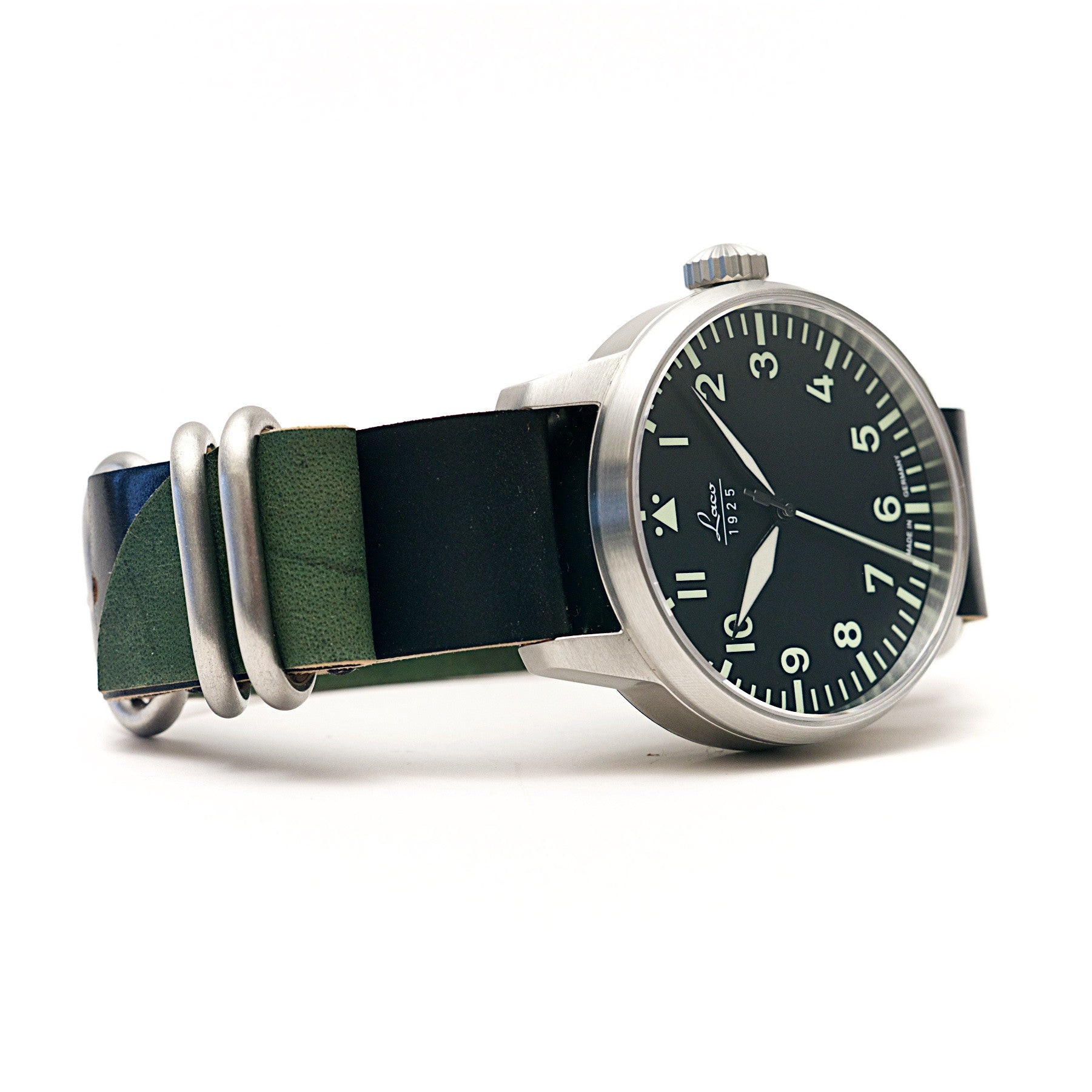 Laco Automatic 42mm Pilot Watch & Horween Shell Cordovan Strap Set