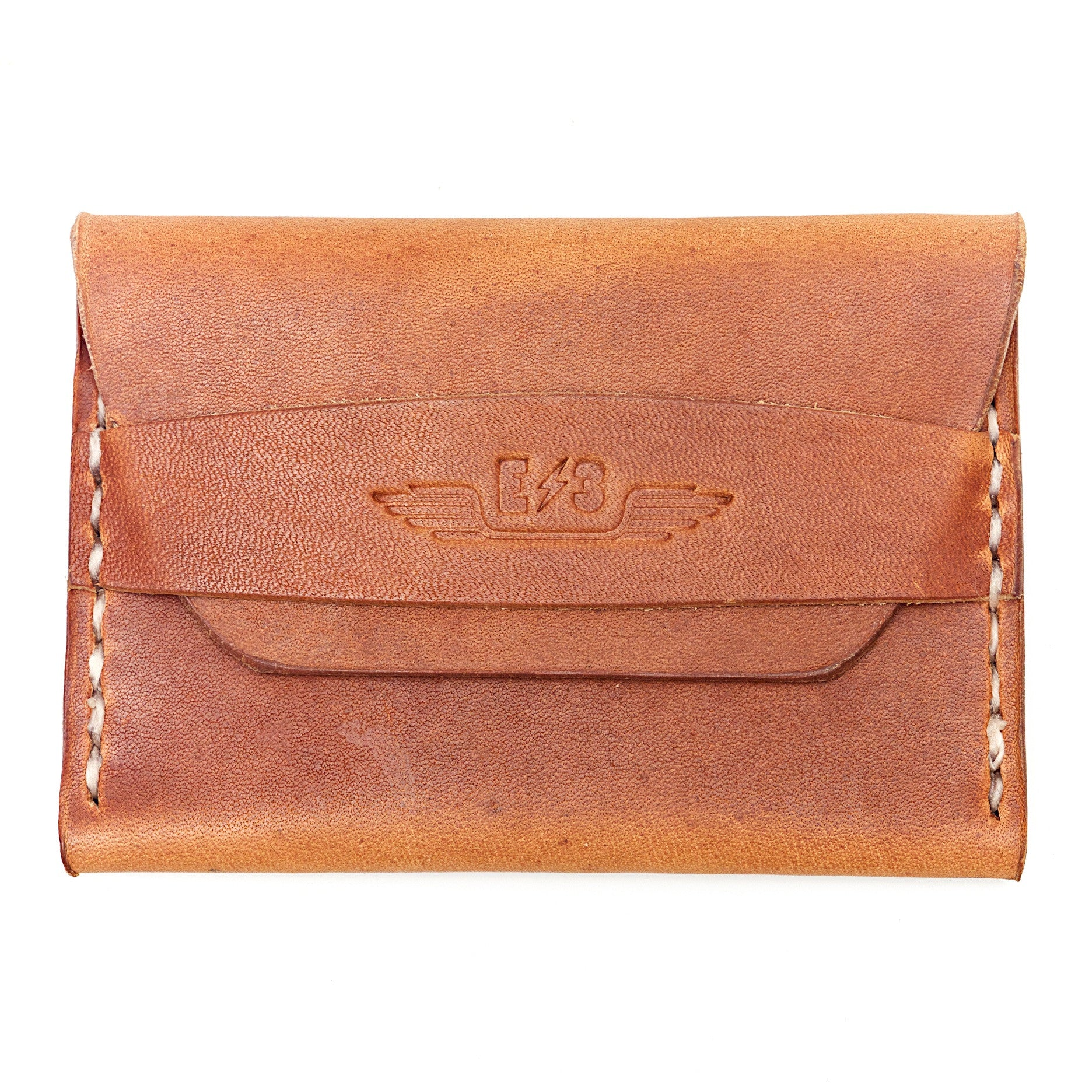 Horween Leather Single Pocket Wallet by E3 Supply Co- English Tan Dublin