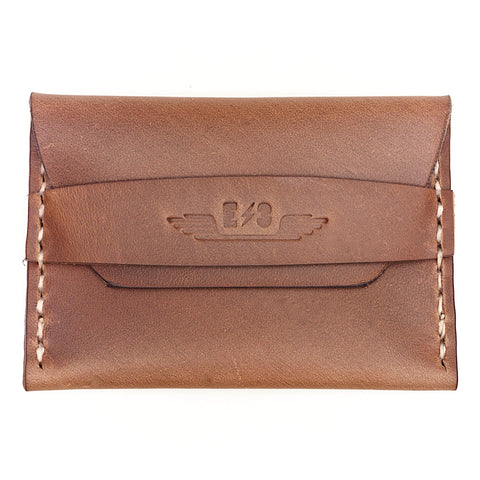Horween Leather Single Pocket Wallet by E3 Supply Co- Natural Chromexcel