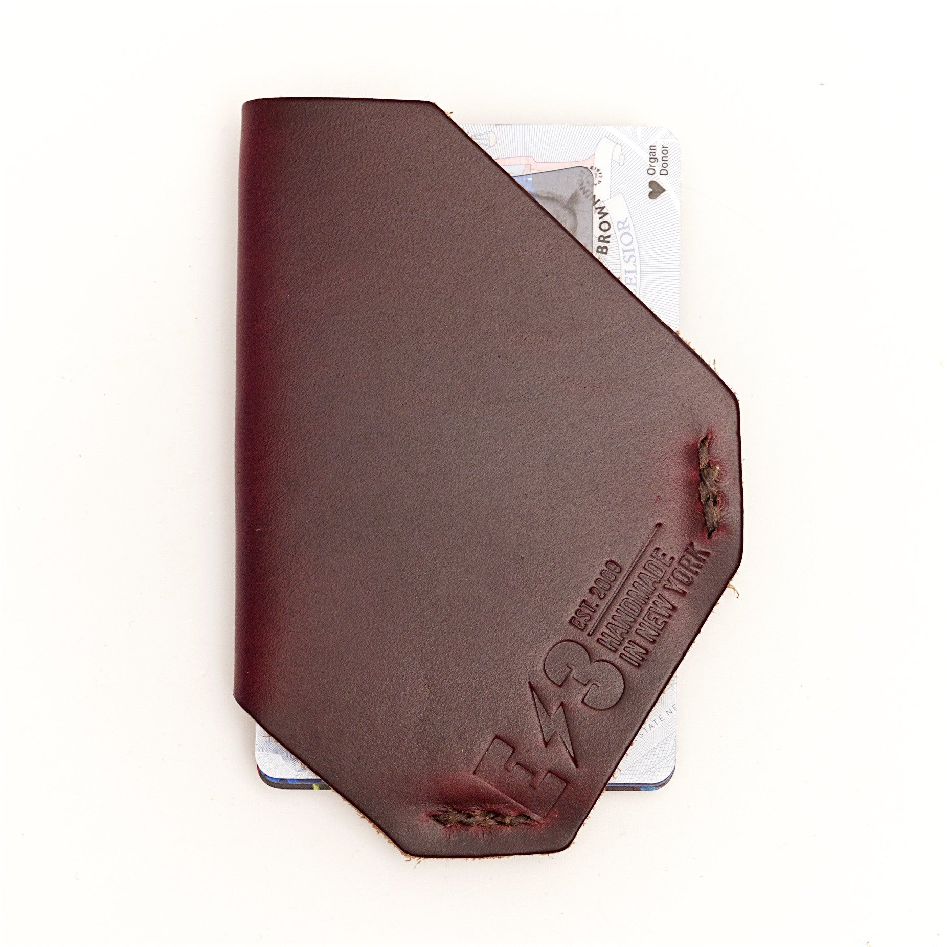 E3 Holster Style Slim Wallet- Burgundy Chromexcel