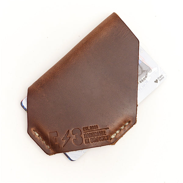 E3 Holster Style Slim Wallet- Natural Chromexcel