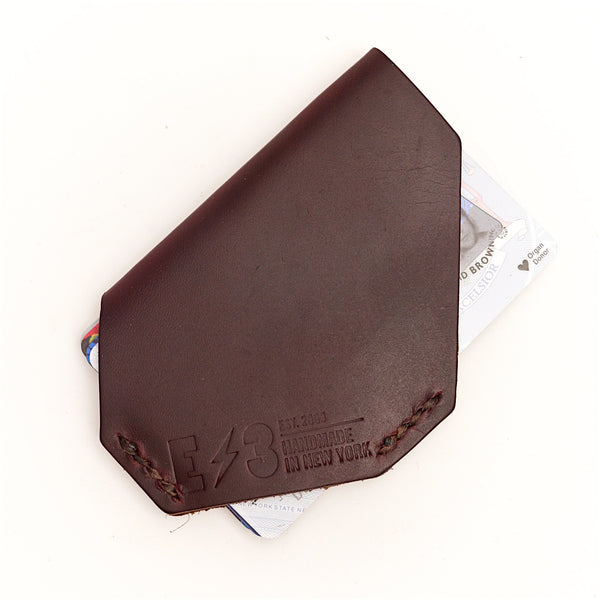 E3 Holster Style Slim Wallet- Brown Chromexcel