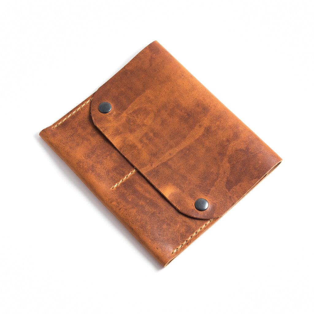 Handmade Double Watch Travel Case: Horween English Tan Leather Pouch