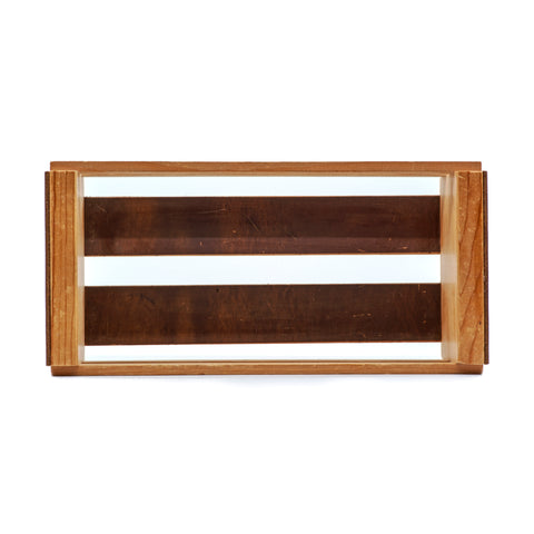 E3 X NAPA VALLEY Wood & Leather Cassette Storage Tray (Holds 12 Cassettes)