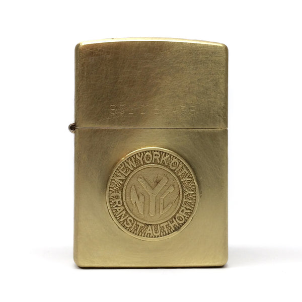 Brass NYC Subway Token Zippo Lighter by E3 Supply Co