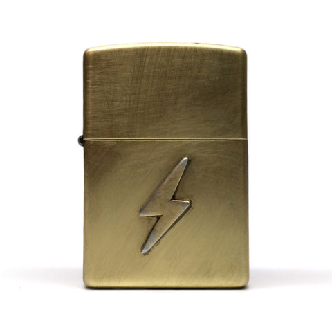 Brass Lightning Bolt Logo Zippo Lighter by E3 Supply Co