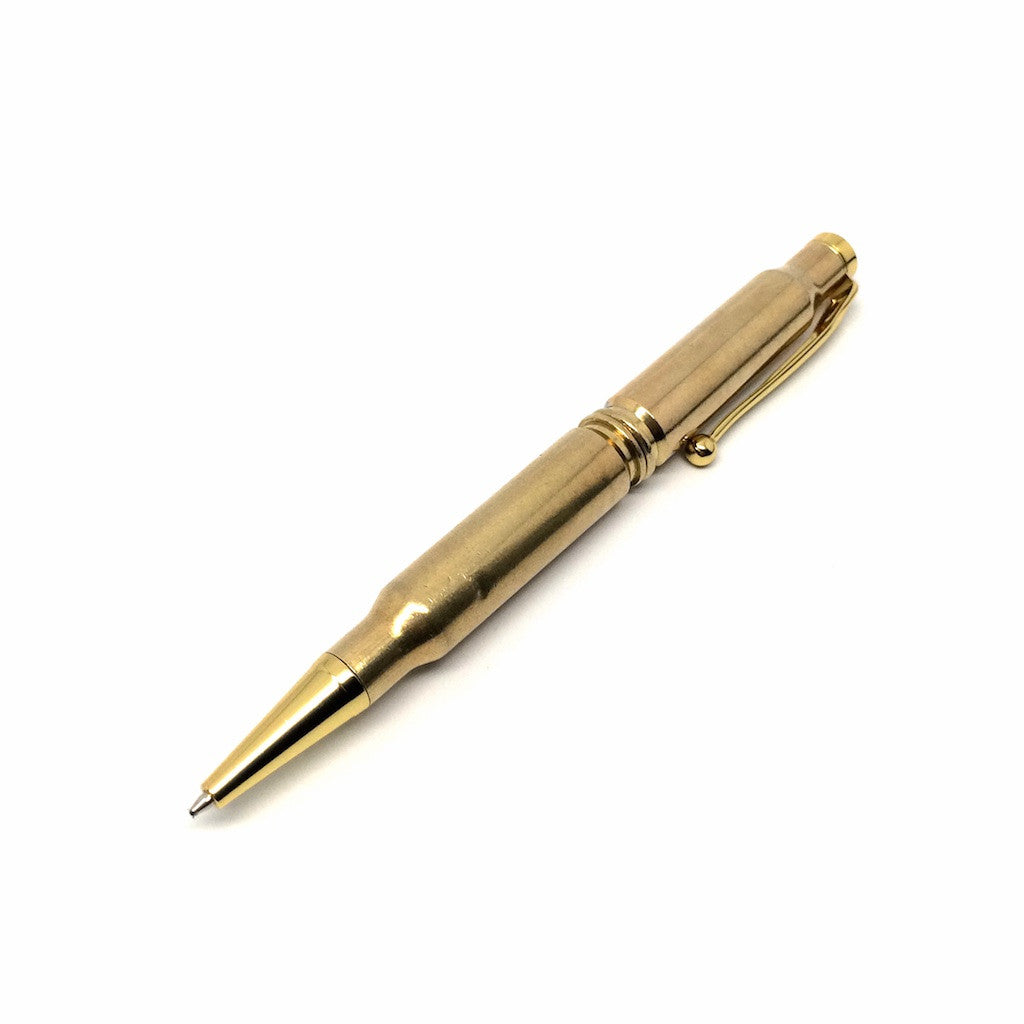 Brass Bullet Pen by E3 Supply Co