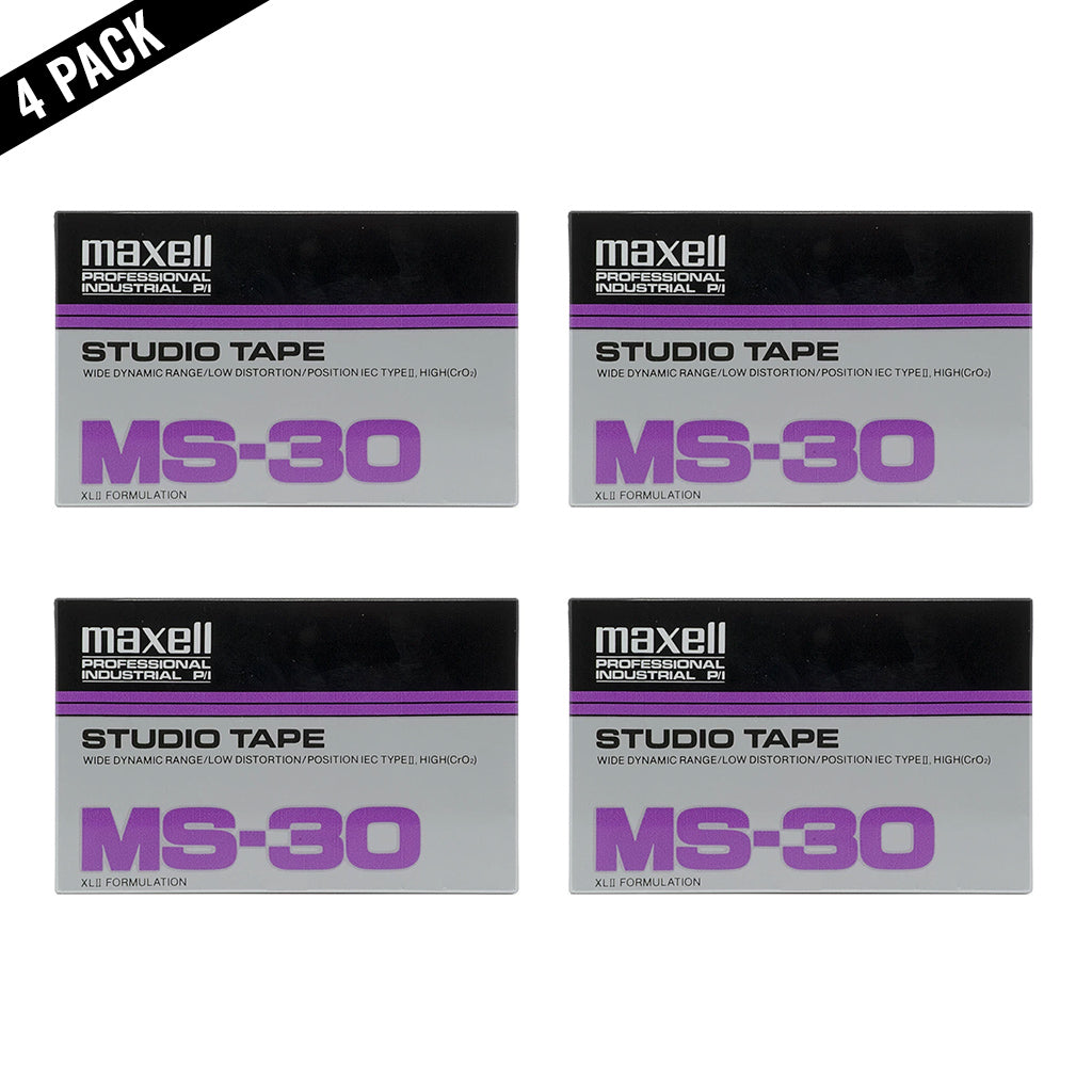 Maxell MS 30 Type II Chrome Studio Cassette Tape