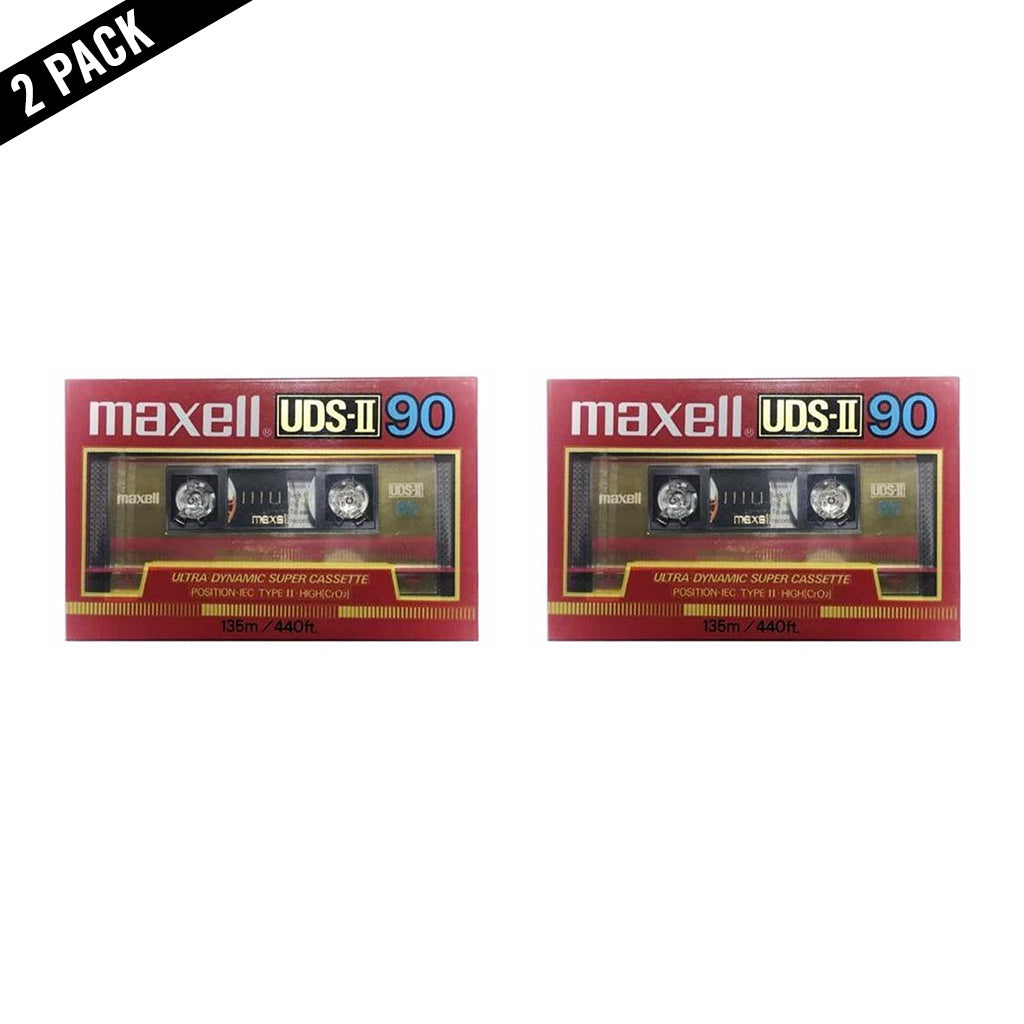 1986 Maxell UDS-II 90 Type II Chrome Cassette Tape