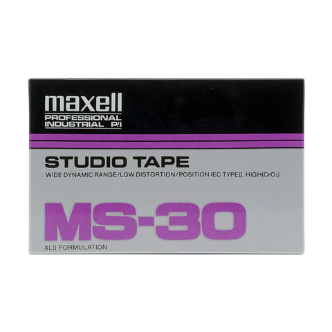 1997 Maxell MS 30 Type II Studio Cassette Tape