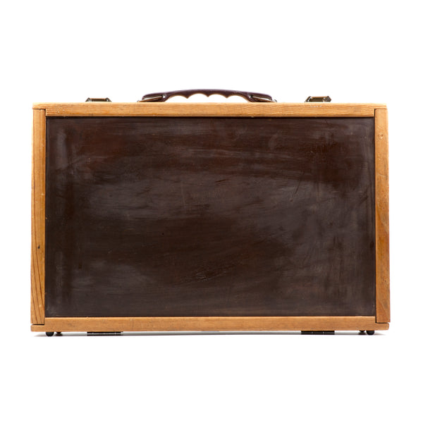 E3 X NAPA VALLEY Wood & Leather Cassette Briefcase (Holds 40 Cassettes)