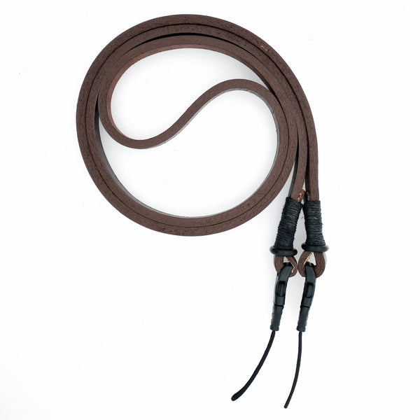 Quick Release Horween Leather Camera Neck Strap — Brown/Black —by E3 Supply Co.