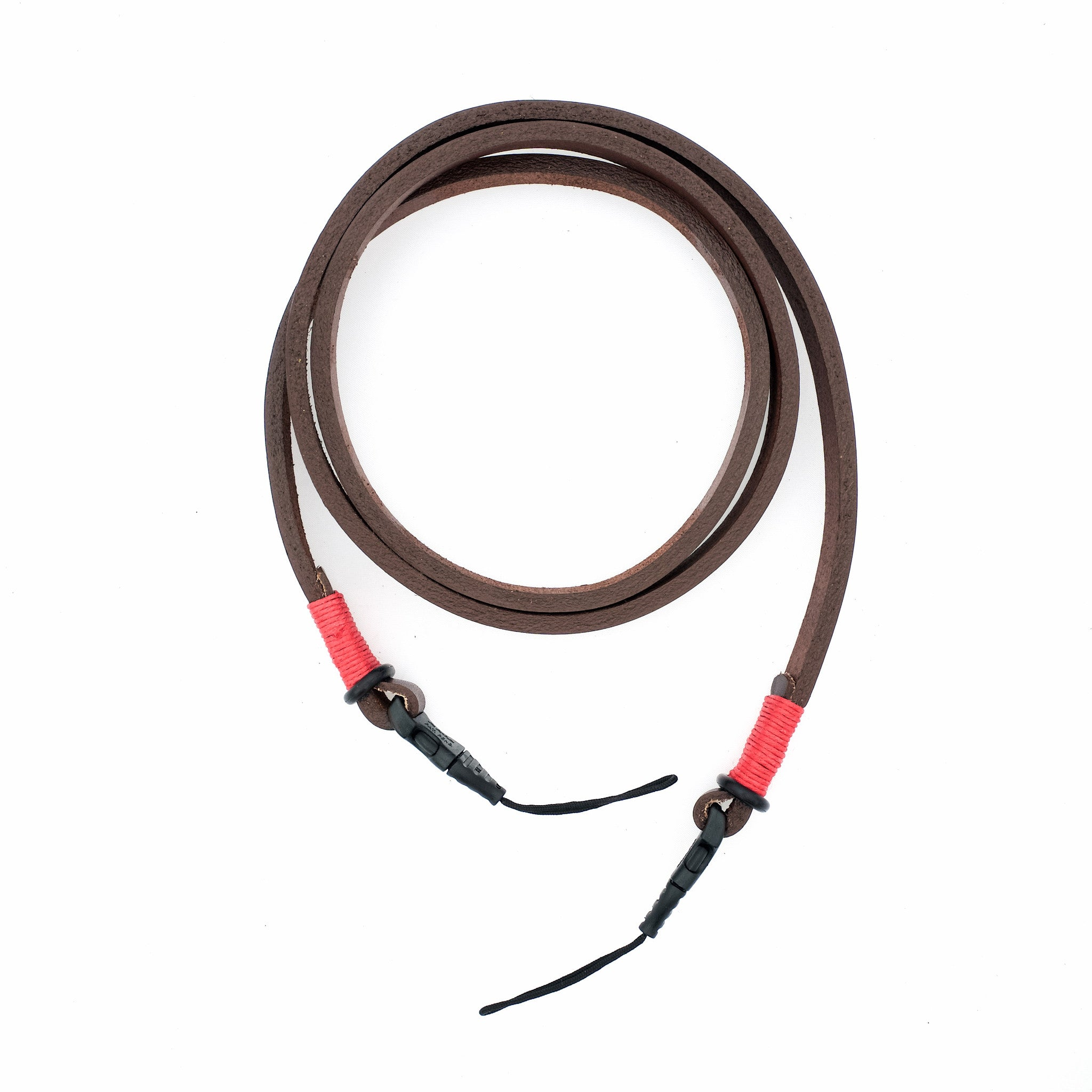 Camera Neck Strap With Quick Release—Brown/Red