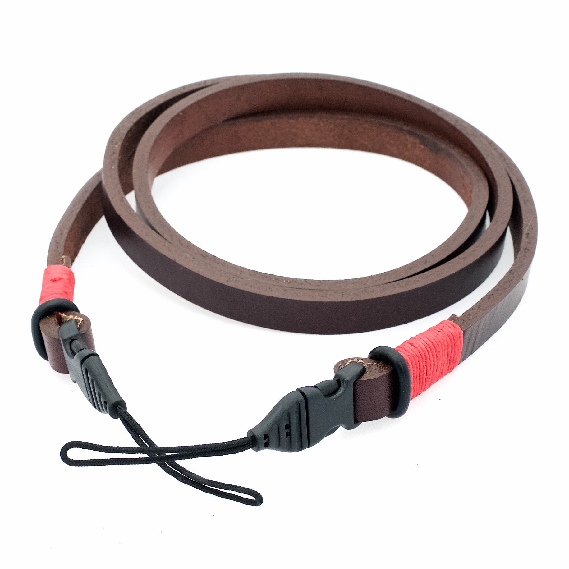 Horween Leather Camera Neck Strap w/ Quick Release- Brown/Red