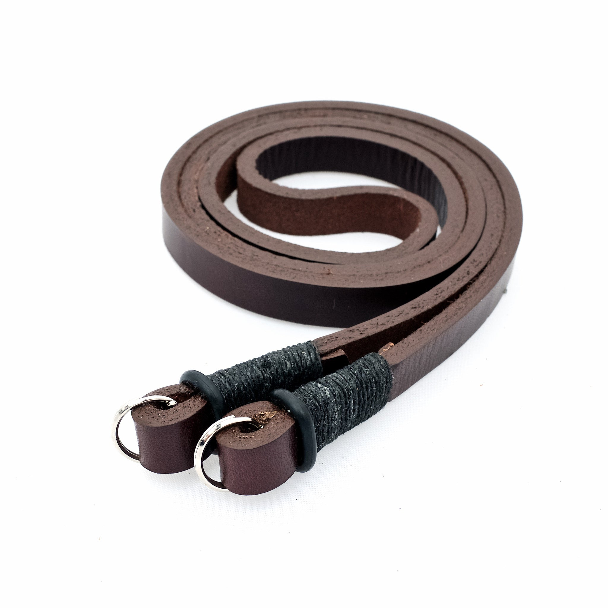 Horween Leather Camera Neck Strap by E3 Supply Co- Brown/Black