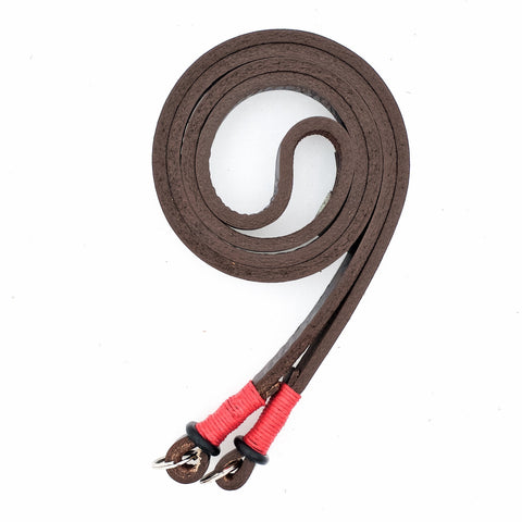 Horween Leather Camera Neck Strap by E3 Supply Co- Brown/Red