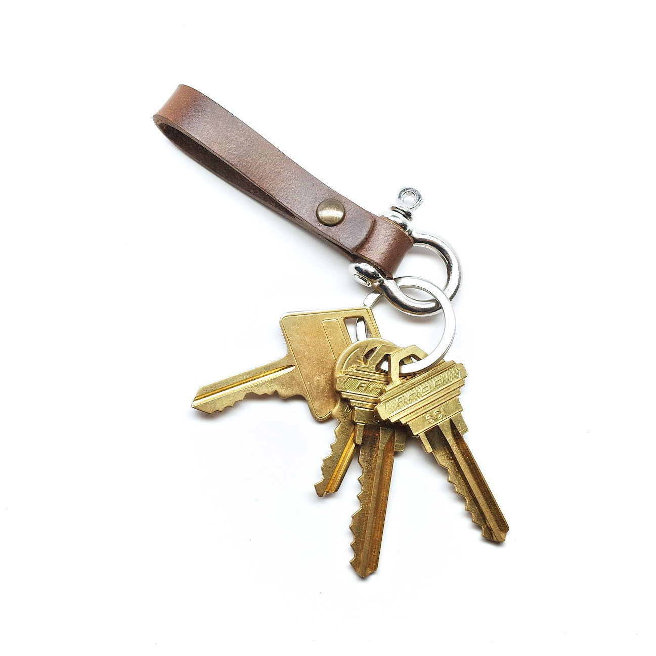 Mini Moto Horween Leather Keychain by E3 Supply Co