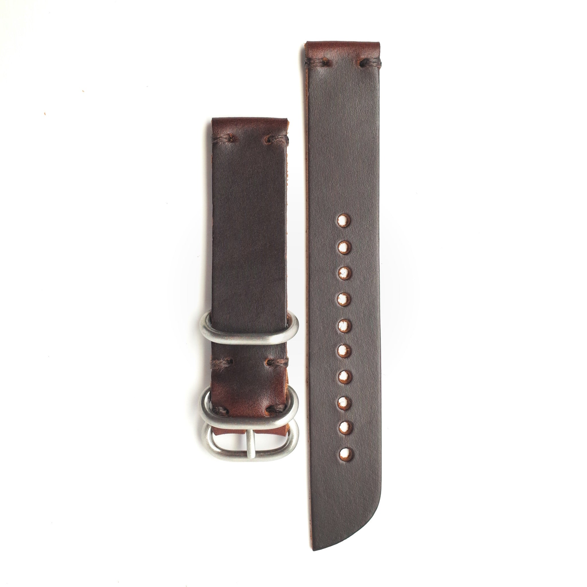Standard Horween Leather Watch Band: Brown Chromexcel