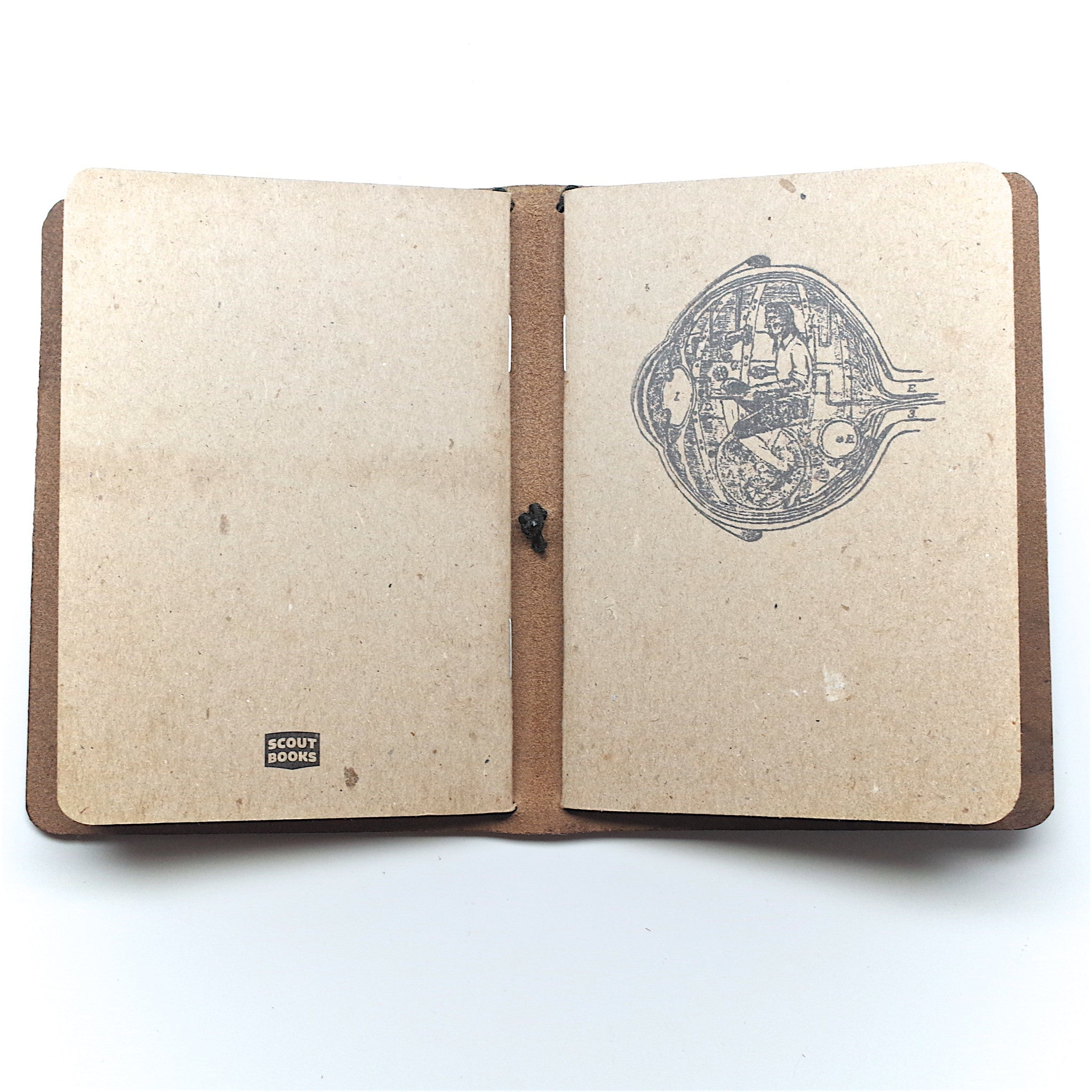 Horween Leather Passport Notebook: Black Chromexcel