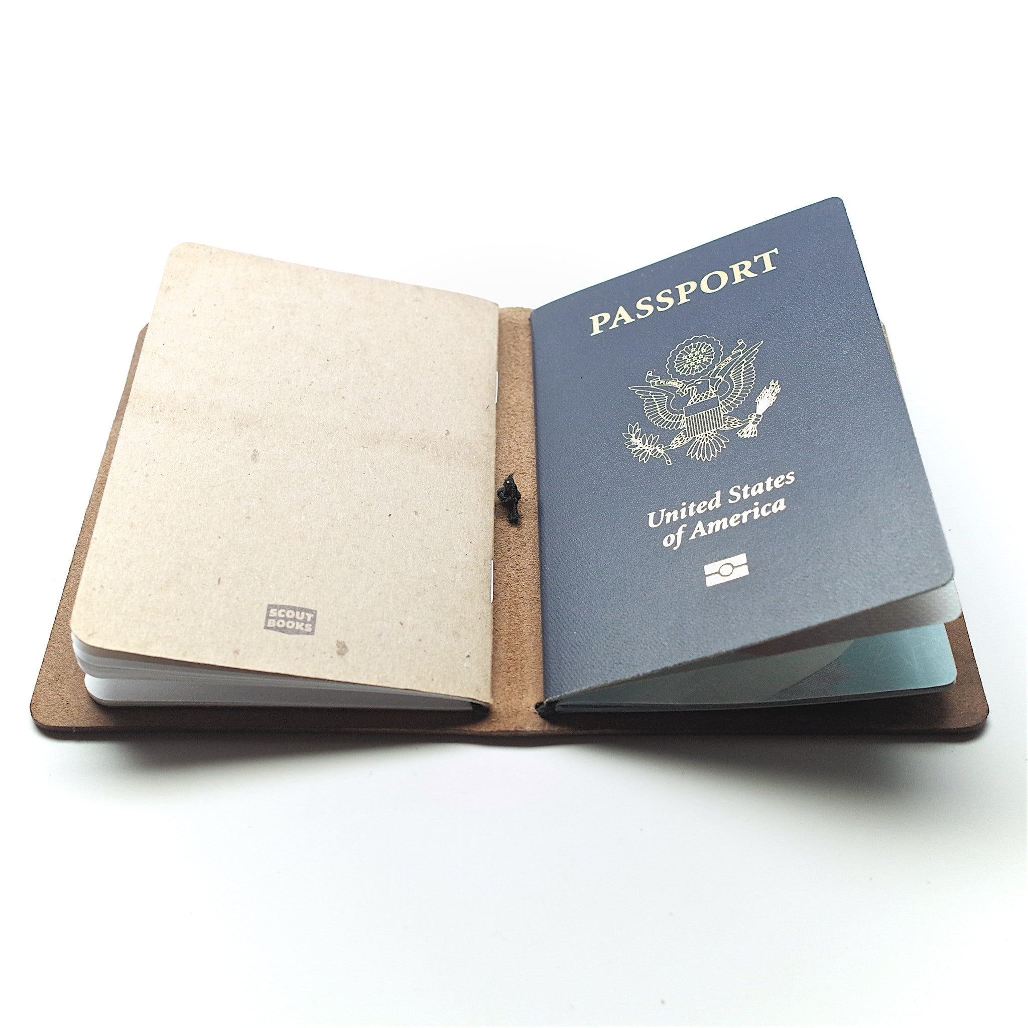 Horween Leather Passport Notebook: Natural Chromexcel