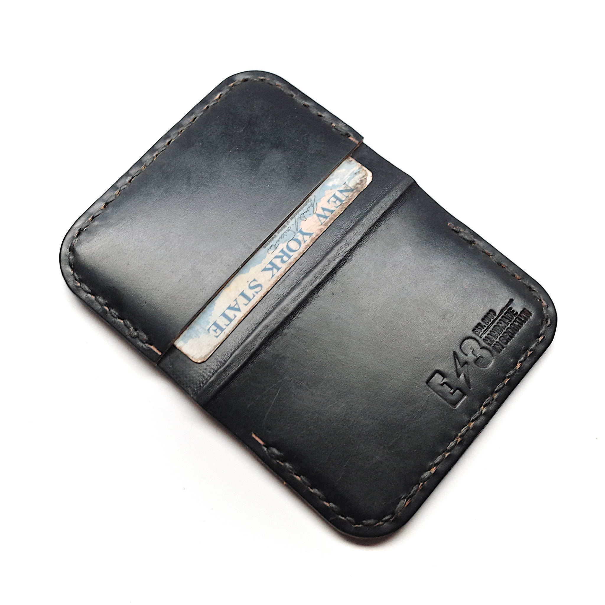 Horween Leather Front Pocket Wallet by E3 Supply Co- Black Chromexcel