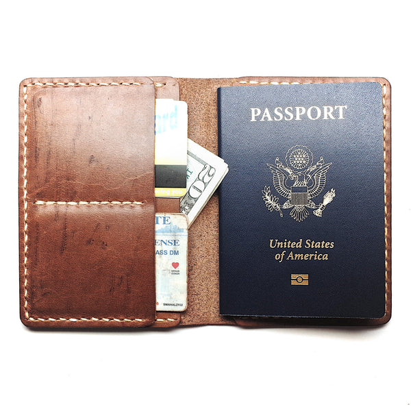 Horween Leather Passport Wallet by E3 Supply Co- Light Natural Chromexcel