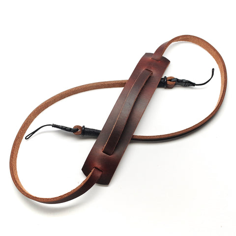 Horween Leather Quick Release Camera Strap by E3 Supply Co- Brown/Black