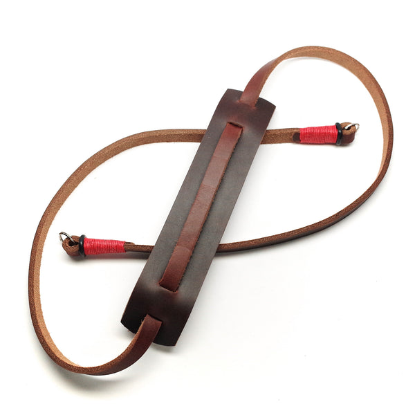 Horween Leather Camera Strap by E3 Supply Co- Brown/Red