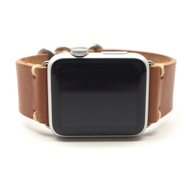 E3 Horween Leather Watch Band for Apple Watch: English Tan Dublin