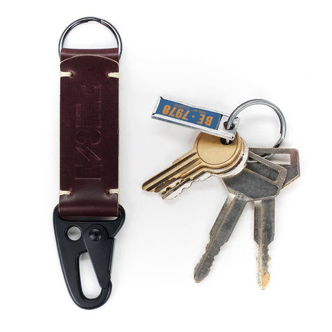 Horween Color #8 Shell Cordovan Tactical Keychain V1 by E3 Supply Co