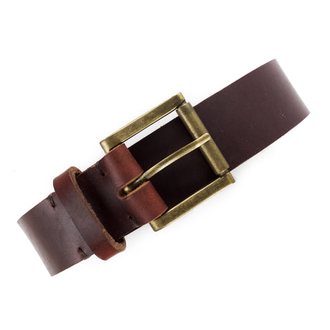 Men's Leather Belt Handmade by E3 Supply Co: Tan Horween Chromexcel