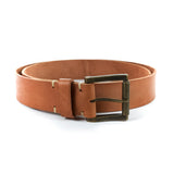 Men's Leather Belt Handmade by E3 Supply Co: Horween Russet Natural Veg Tan