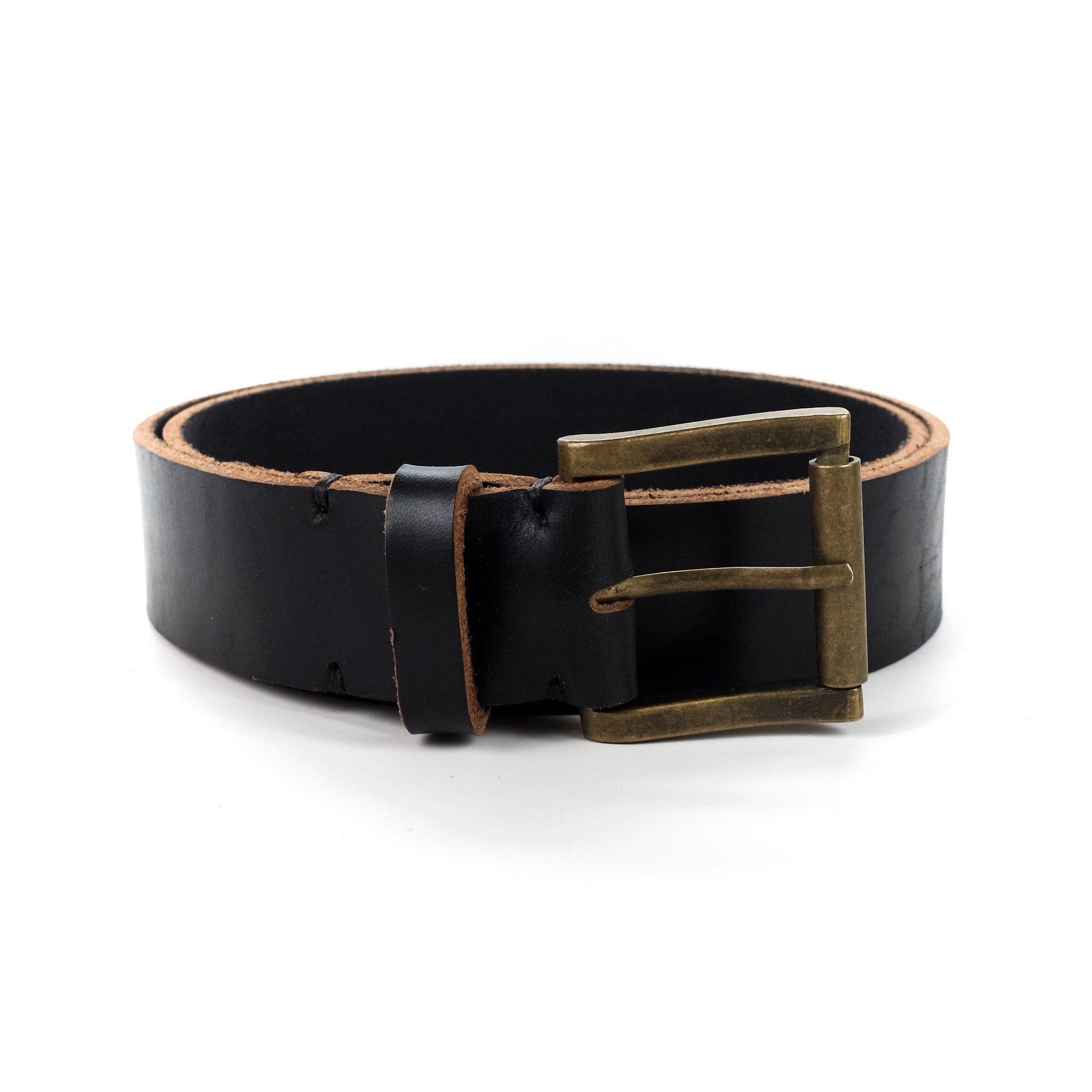 Men's Leather Belt Handmade by E3 Supply Co: Black Horween Chromexcel