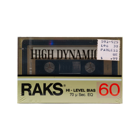 1985 Raks High Dynamic 60 Type II Cassette Tape