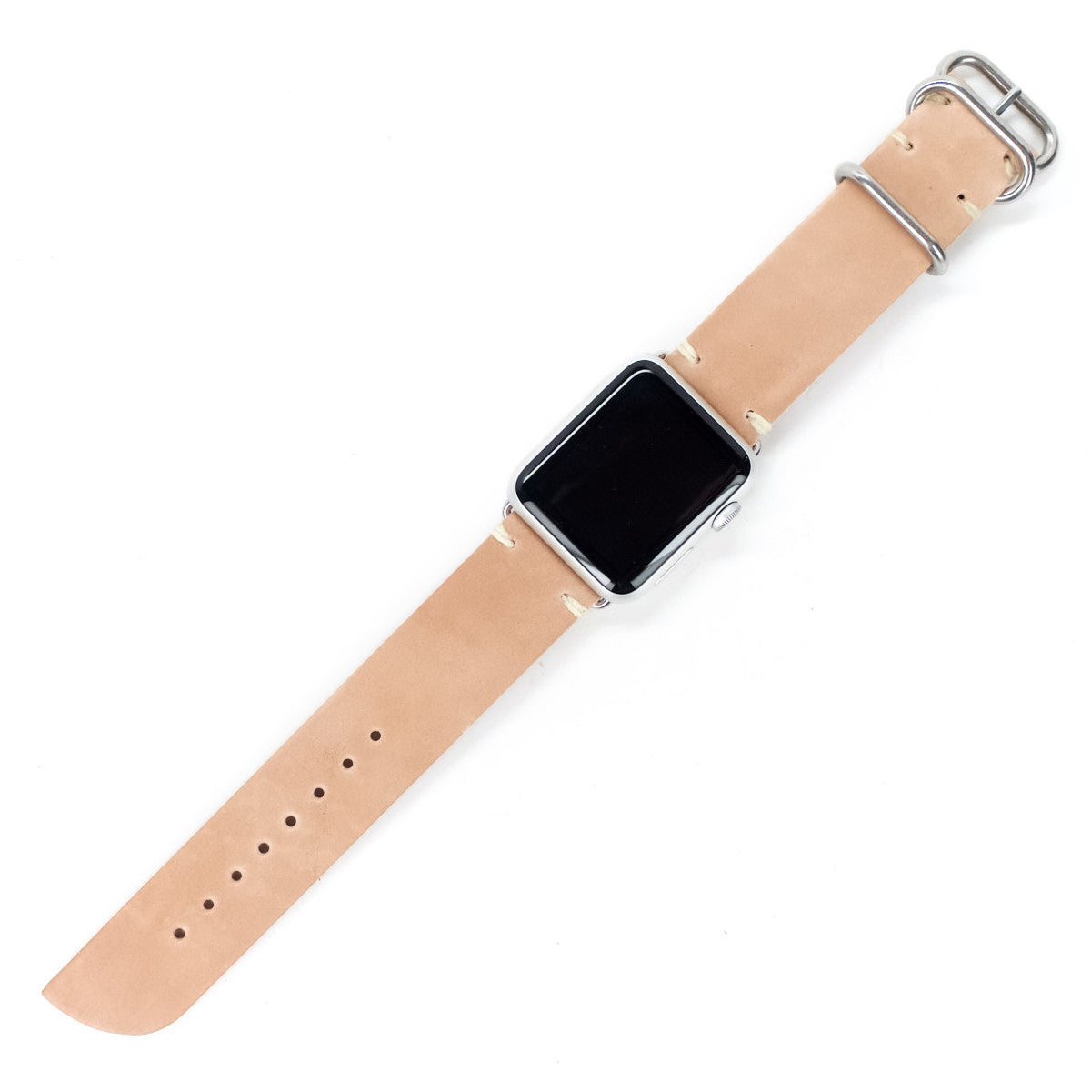 Shell Cordovan Leather Apple Watch Band by E3 Supply Co- 38mm & 42mm- Raw Shell