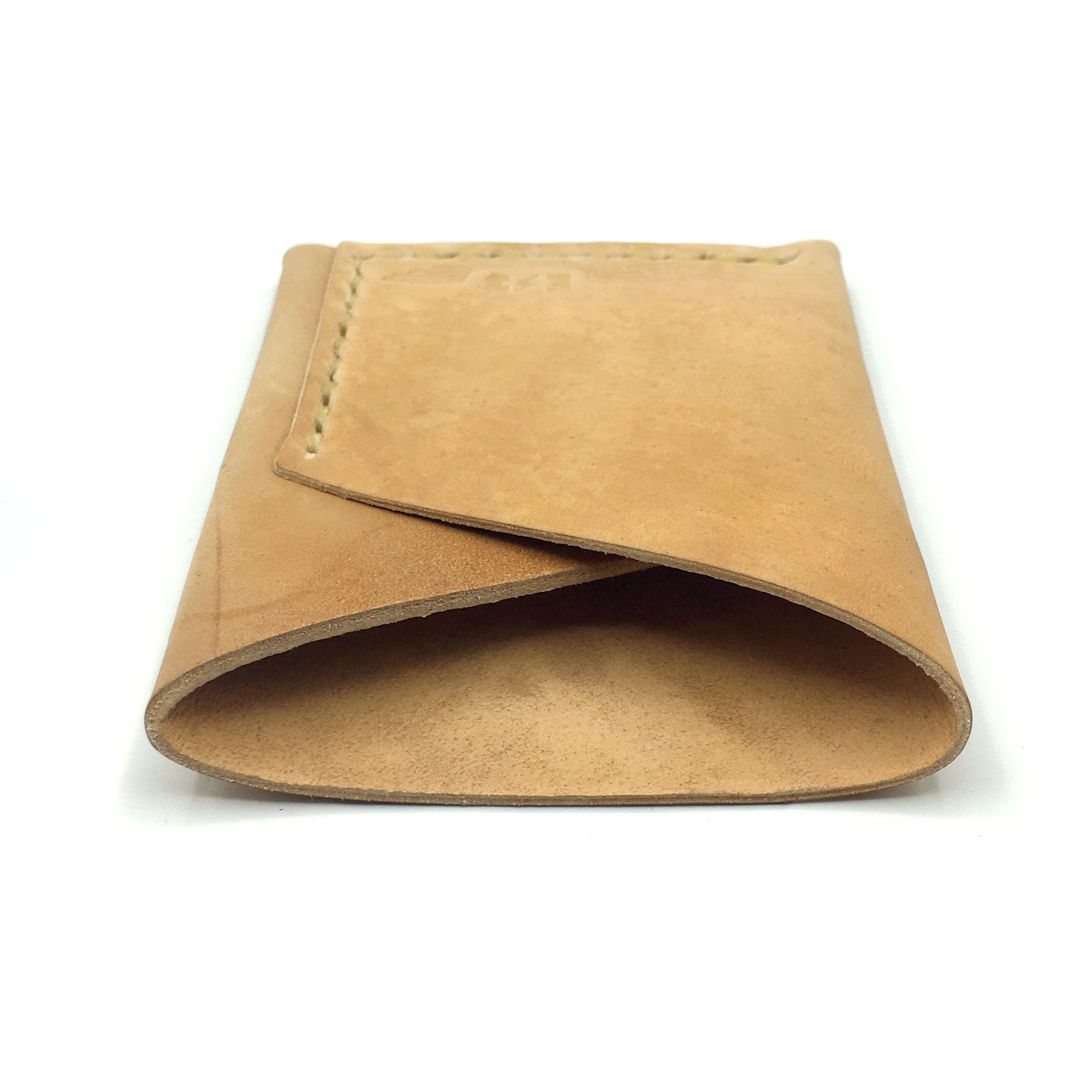 Horween Shell Cordovan Wrap Wallet by E3 Supply Co: Reverse Black