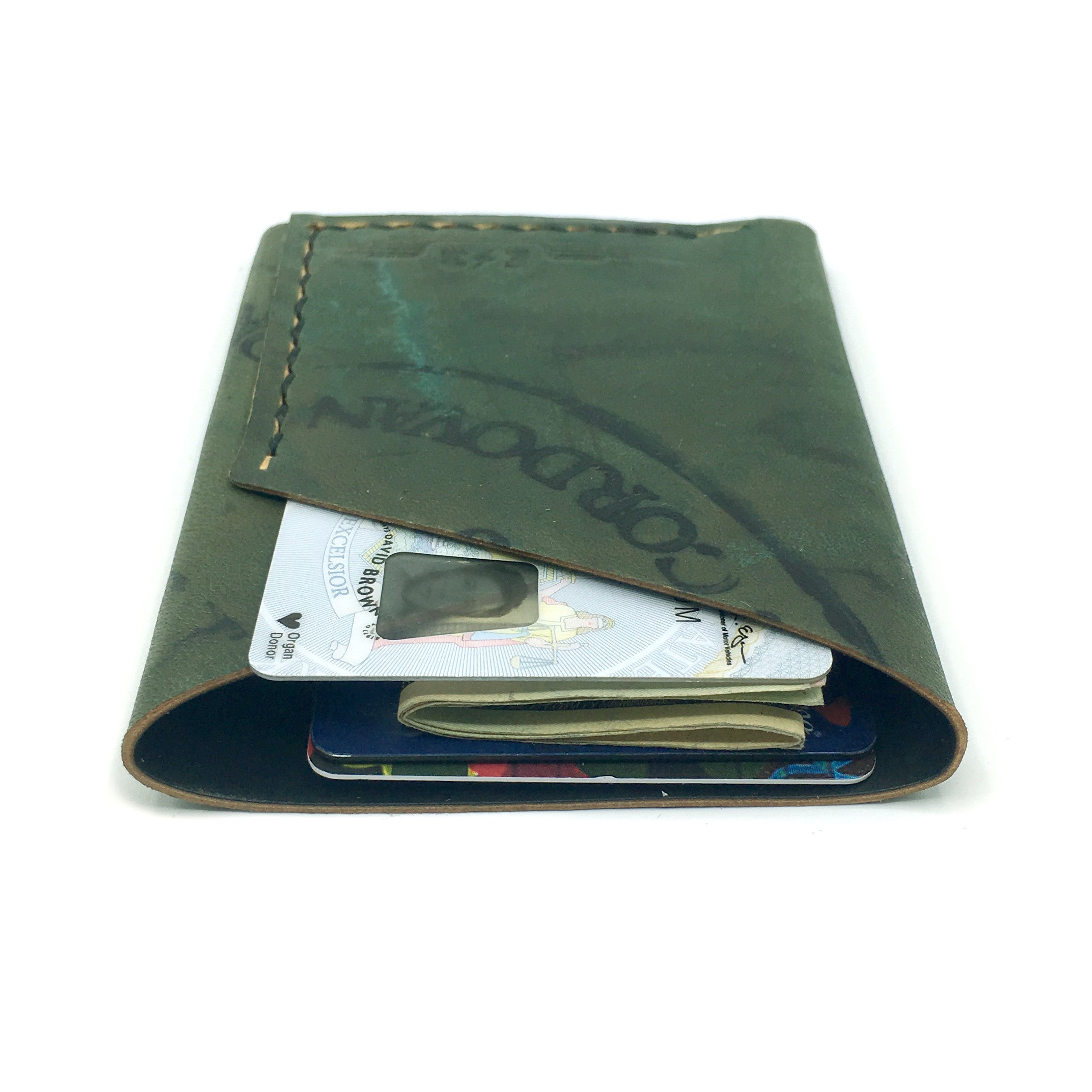 Horween Shell Cordovan Wallet by E3 Supply Co: Reverse Black