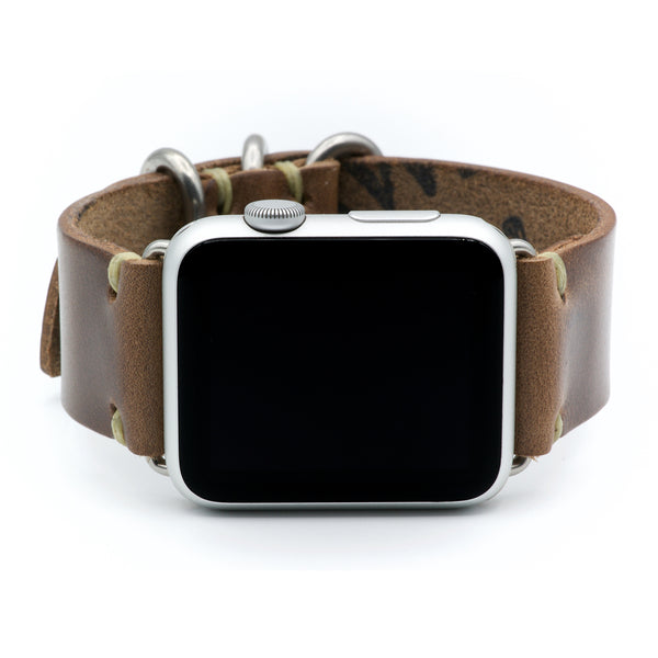 Leather Watch Band for Apple Watch by E3 Supply Co: Natural Horween Chromexcel