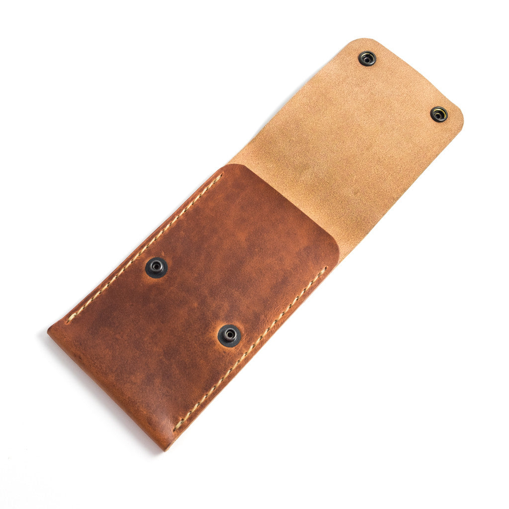 Handmade Single Watch Travel Case by E3 Supply Co: Horween English Tan Leather Pouch