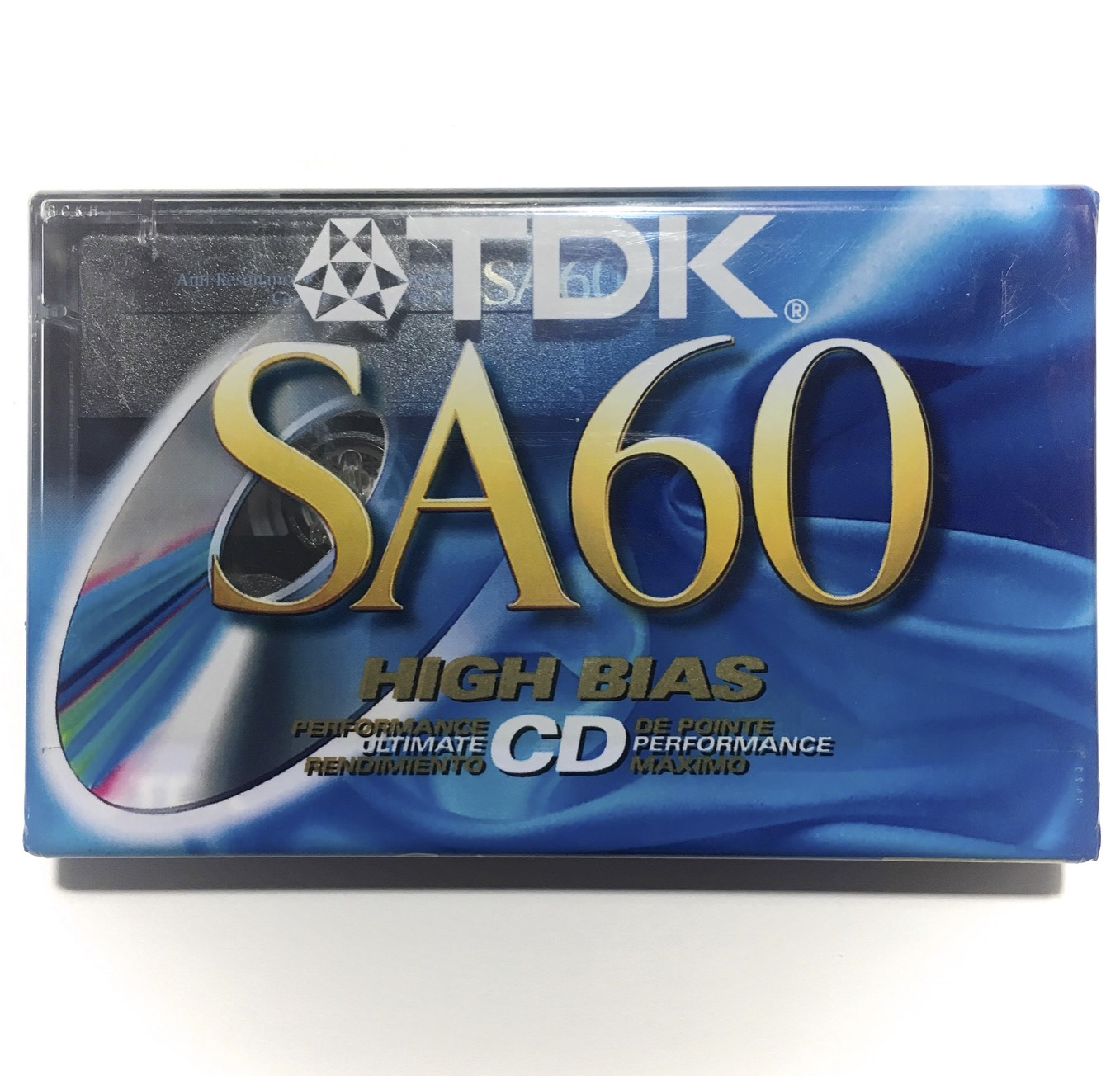 1998 TDK SA 60 Type II Chrome Cassette Tape: FREE SHIPPING